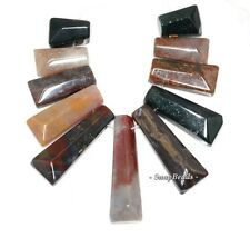 SANCTUARY INDIAN AGATE GEMSTONE LOOSE BEADS GRADUATED SET 11 BEADS