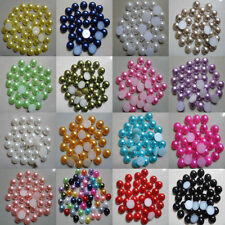 2000pcs Half-round Flatback Acrylic Pearl For Nail Art Phone Craft Black 2mm