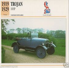 FICHE AUTOMOBILE GLACEE GB CAR TROJAN 10 HP 1919-1929