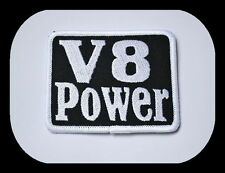V8 Power,Patch,Aufnäher,Aufbügler,Badge,Biker,Chevy,Dodge,Hemi,Ford,Mopar