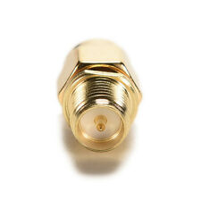 New Adapter RP-SMA female to SMA male plug both male center Straight RF CA