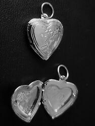 Belons Silberfarben Blau//Rosa Titanstahl Epoxy Foto Medaillon Amulett /Öffenbar Herz Anh/änger Halskette Kette mit Anh/änger Herzkette