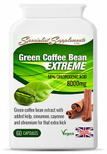 Green Coffee Bean Extreme Extract Weight Loss Supplement 60 Capsules Slimming