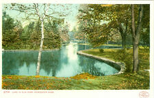 Worcester,MA. The Lake in Elm Park 1906