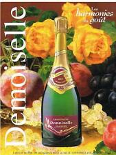 PUBLICITE ADVERTISING  2000   DEMOISELLE  champagne