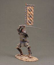 Toy tin soldiers 54mm. ELITE Soldier.Samurai with flag.