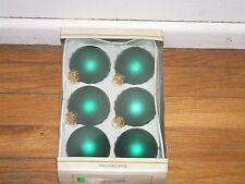 Designers Studio Hand Crafted Glass Ball, Flat Green Christmas Ornaments