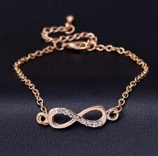 9 Strasssteine Armband Glücksbringer Infinity Armbänder (g )