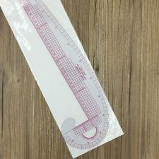 3 en 1 style design plastique souple règle french curve hip curve straight ruler