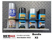 2x 4 Aerosol Can Storage holder.Van Racking Trafic T5 Transit Vivaro Sprinter