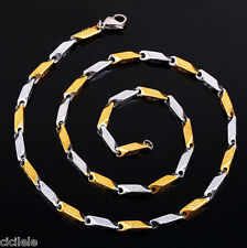 Men's Women Unisex's Stainless Steel Gold Silver Tone Chain Necklace Jewelry