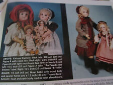 9pg Chronology of French Bisque Doll Article / Lynn Murray   b1