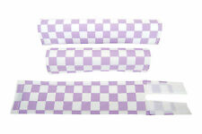 FLITE old school BMX bicycle padset foam racing pads CHECKERBOARD LAVENDER WHITE