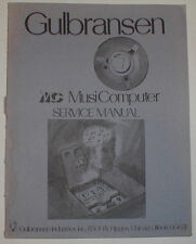 Gulbransen Organ MC MusiComputer Musi Computer Service Repair Manual Schematics