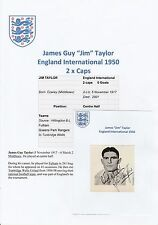 JIM TAYLOR ENGLAND INTERNATIONAL 1950 RARE ORIGINAL HAND SIGNED ANNUAL CUTTING