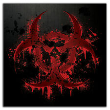 Bloody Biohazard #2 Black Bumper Sticker Decal apocalypse zombie splatter