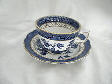 C4 Pottery Booths Real Old Willow Tea cup and Saucer 16x8 cm1B5G