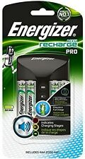 Energizer Recharge Pro Battery Charger AA AAA 4 2000mAh Rechargeable Batteries