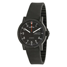Fortis Spacematic Pilot Professional Black Dial Black Rubber Mens Watch