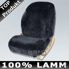 SHEEPSKIN COVER DOUBLE CAP SHEEPSKIN SEAT COVER MERCEDES W124 ANTHRACITE