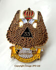 ZP392 Freemason Scottish Rite 33rd Degree Double Head Eagle Metal Crown Badge