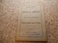 1900.Après le complot.Réunion royaliste à Poitiers.Eugène Godefroy