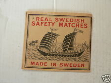 LUCIFERS,MATCHBOX LABELS REAL SWEDISH SAFETY MATCHES MADE IN SWEDEN