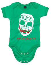 Joker Face Paint, Printed Baby Grow