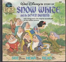 SNOW WHITE AND THE SEVEN DWARFS #310 1977 33 1/3 STORY by WALT DISNEY  VG