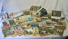 50 Old Assorted California Postcards Los Angeles, Boats, USC, Hollywood