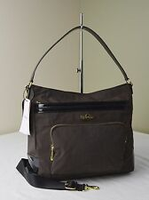 Kipling Always On The Work Coffee Brown Patent Combo Sansa Hobo Handbag