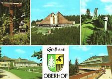 """Oberhof  -  Sessellift - Schanze am Rennsteig - Interhotel """"panorama""""  -  1974"""
