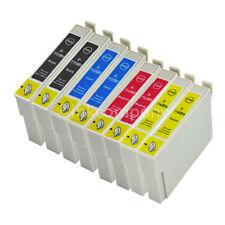 8 PATRONEN SET für EPSON DX8400 DX8450 DX9400F SX218 SX400 SX405 wifi SX410 D78