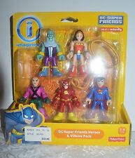 HEROES v VILLAINS Imaginext KOHL'S Exclusive DC Super Friends Set MIP