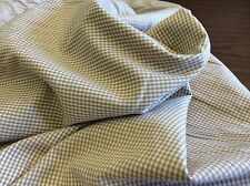 """BRITISH TAN 1/16"""" GINGHAM BY FABRIC FINDERS  60 INCH WIDE - 5/8 YARD"""