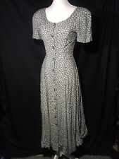 Vintage VTG Rampage Womens Green XS / S Prairie Maxi Button Down Dress Sz 5