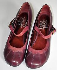HUSH PUPPIES LADIES PURPLE LEATHER SHOES SIZE 9 wide