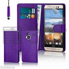 32nd Book Wallet PU Leather Case For HTC One A9 + Screen Protector & Stylus