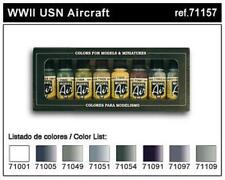 Vallejo WWII USN Aircraft Colors Model Air Acrylic Paint Set 17ml x8 VAL 71157