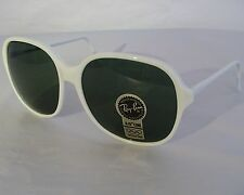 Vintage B&L Ray Ban WO 343 White Big Round Traditionals Sunglasses