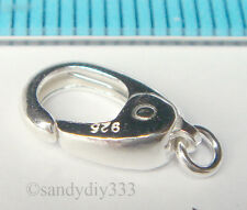 1 x STERLING SILVER OVAL LOBSTER CLASP BEAD 6mm 10mm #1115