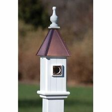 """FANCY HOME PRODUCTS BLUE BIRD HOUSE BRIGHT COPPER 6"""" DECORATIVE BIRDHOUSE"""