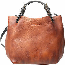 OLD TREND Dip Dyed 100% Leather Mini-Tote Purse Bag - Cognac - OT14602