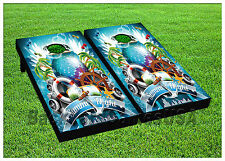 VINYL WRAPS Cornhole Boards DECAL Disco Summer Night Bag Toss Game Stickers 490