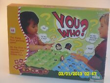 WHO ARE YOU? BOARD GAME GUESS WHO YOUR PLAYER IS TRADITIONAL CHILDREN GAMES TOY