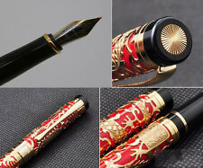 JINHAO 5000 Red Senior Century Dragon Relievo Dragon's Spirit Fountain Pen