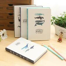 """Seabed Whales"" 1pc Cute Notebook Hard Cover Diary Planner Journal Study Agenda"