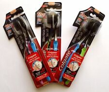6 COLGATE  Slim Soft Charcoal Black Toothbrush NEW & SEALED (3 PACKS OF 2)