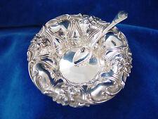 Antik. Florale JUGENDSTIL Schale um 1900. Massives STERLING 925 Silber. Marken