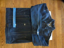 NEW!!!NWOT Burnside Mens M Blue Denim/Jean Jacket Loose/Baggie Fit Boardwear